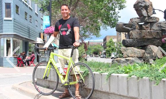 Sudbury.com – Second trip across Canada for cyclist
